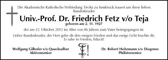 Univ.Prof. Dr. Friedrich Fetz