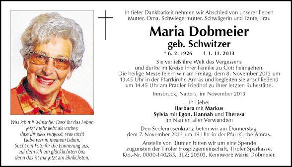 Maria Dobmeier