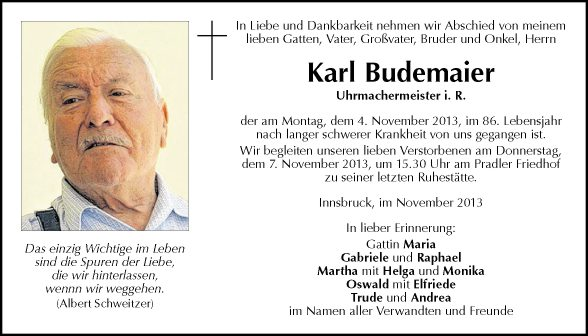 Karl Budemaier