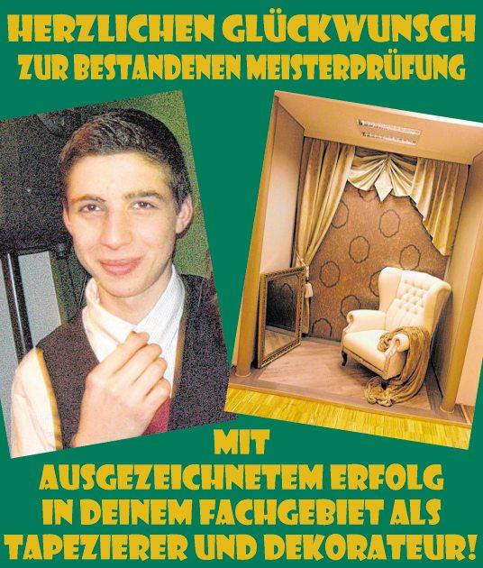 Herzlichkeiten tiroler tageszeitung online for Tapezierer und dekorateur