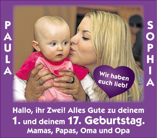 Herzlichkeiten tiroler tageszeitung online - Ihr werdet oma und opa ...
