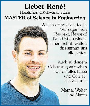 Glückwünsche Zum Master Of Science