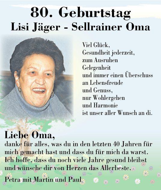 Herzlichkeiten tiroler tageszeitung online - 80 geburtstag oma ideen ...