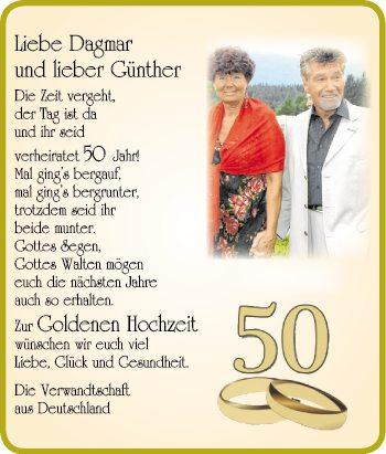 Liebe Damar, Lieber Günther!