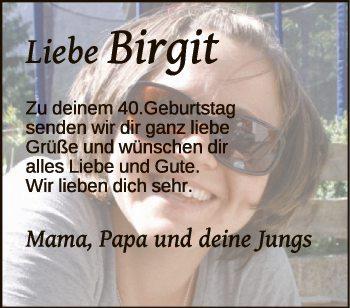 Liebe Birgit