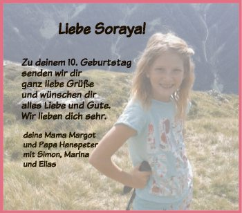 Liebe Sorayja