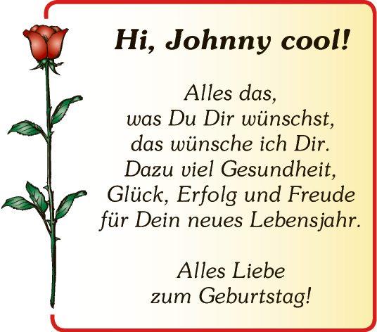 Hi, Johnny cool!