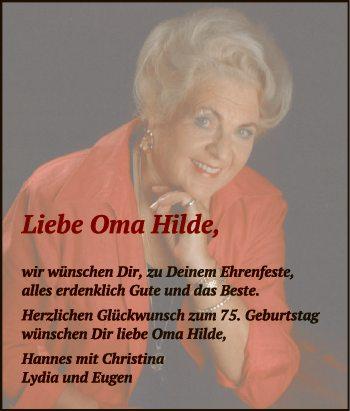 Liebe Oma Hilde