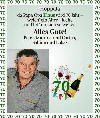 Hoppala da Papa Opa Klaus