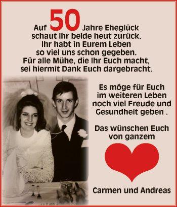 50 Jahre Eheglück