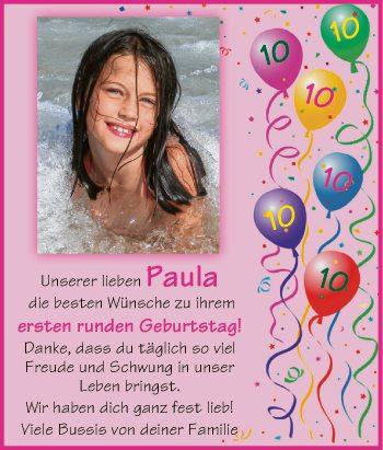 Unserer lieben Paula