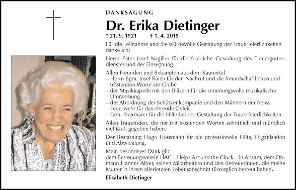 Dr. Erika Dietinger