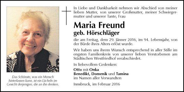 Maria Freund
