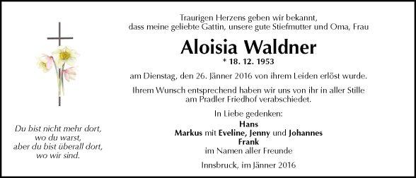 Aloisia Waldner