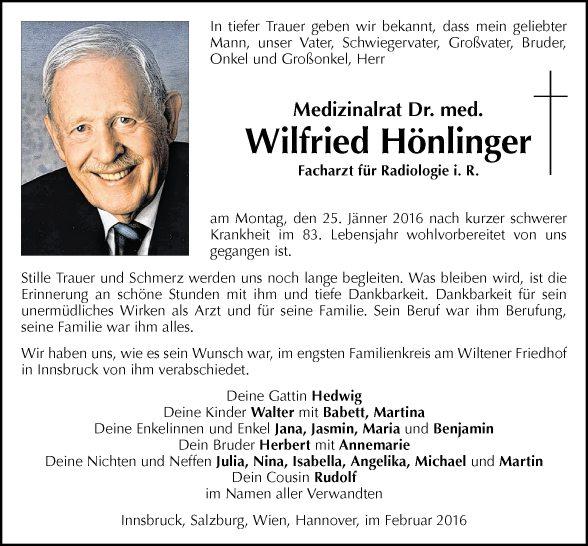 Dr. Wilfried Hönlinger