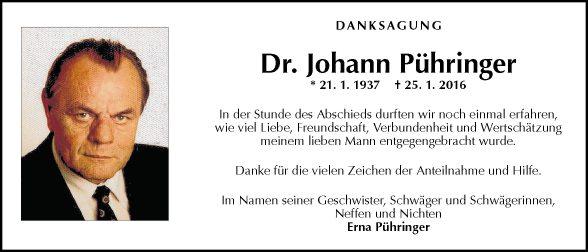 Dr. Johann Pühringer