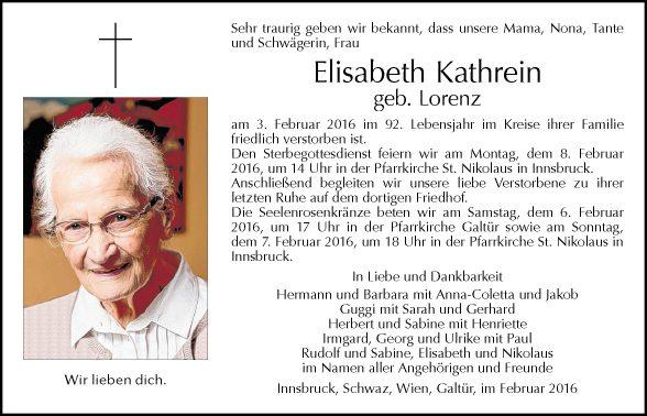 Elisabeth Kathrein