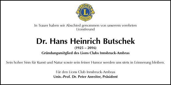 Dr. Hans Heinrich Butschek