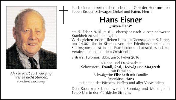 Hans Eisner