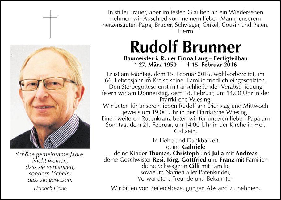 Rudolf Brunner Net Worth