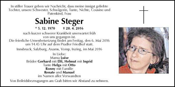 Sabine Steger