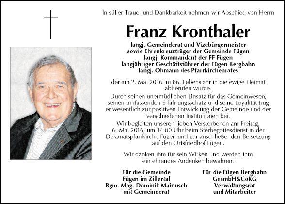 Franz Kronthaler