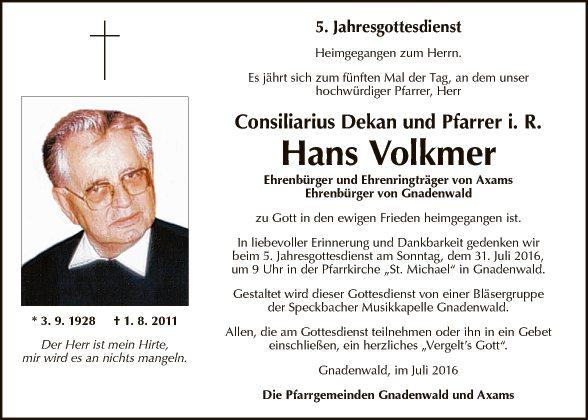 Hans Volkmer