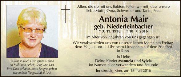 Antonia Mair