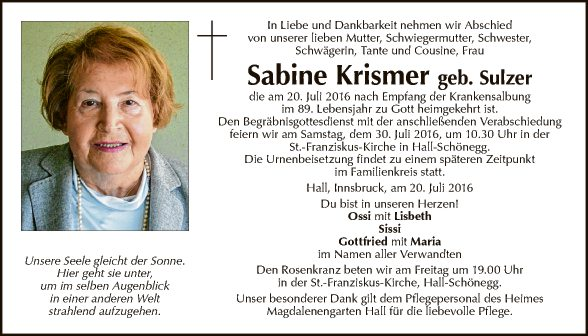 Sabine Krismer
