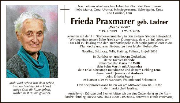 Frieda Praxmarer