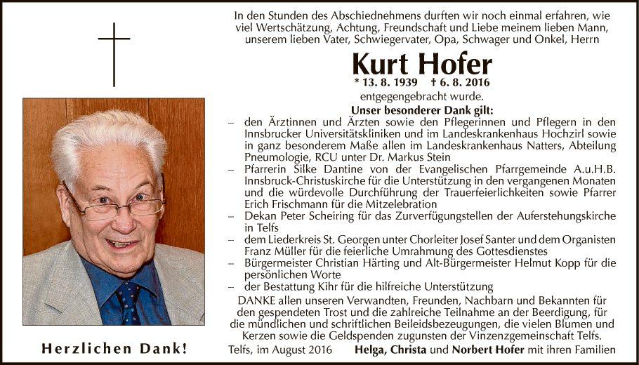 Kurt Hofer