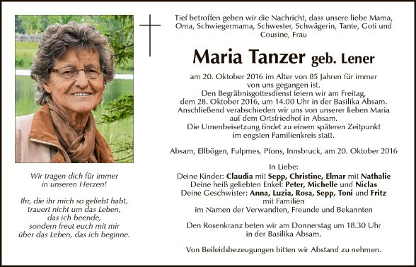 Maria Tanzer