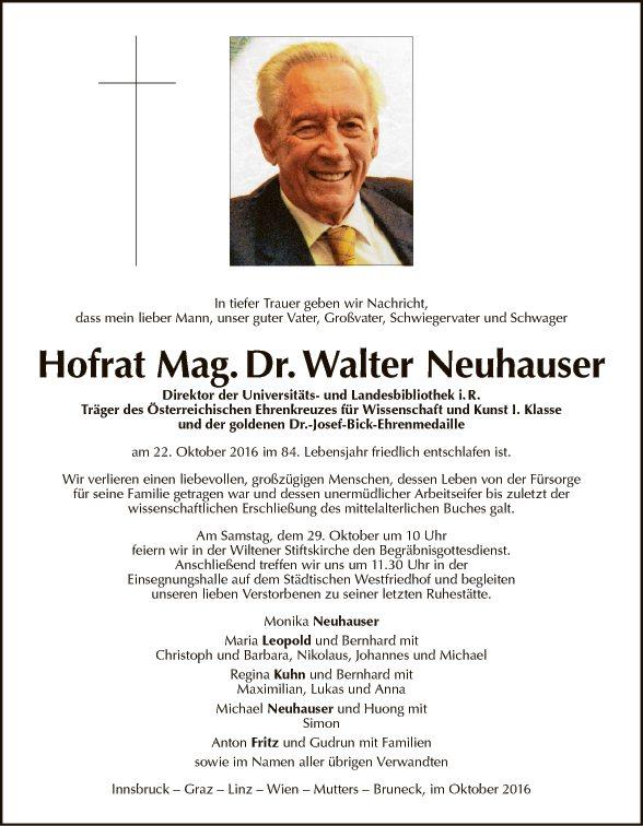 Walter Neuhauser