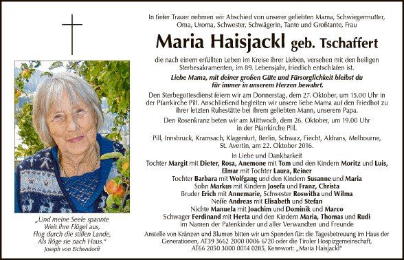 Maria Haisjackl