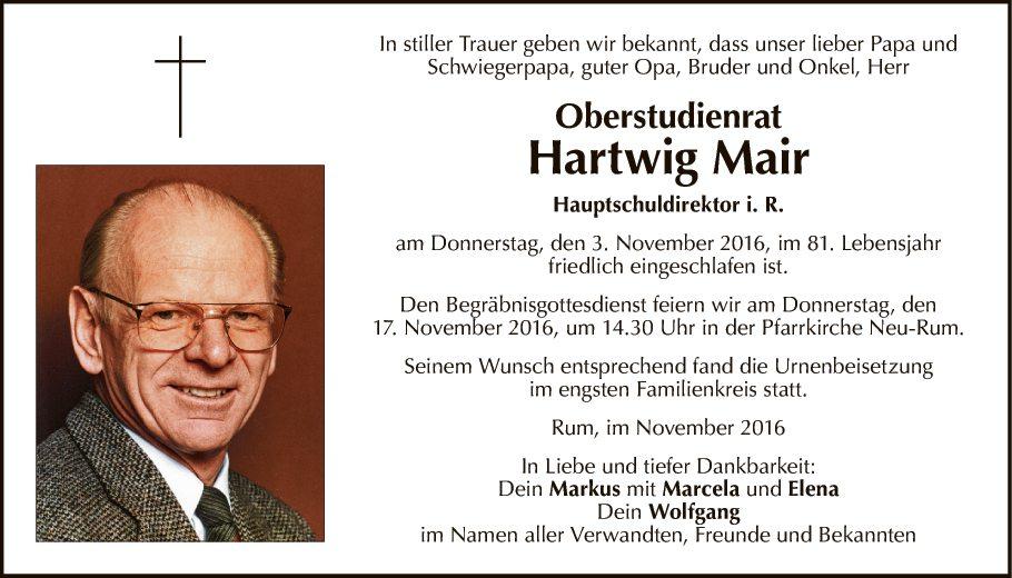 OSR Hartwig Mair