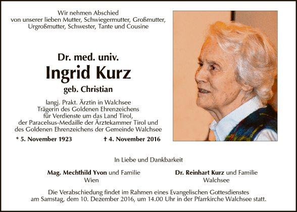Dr. med. univ. Ingrid Kurz