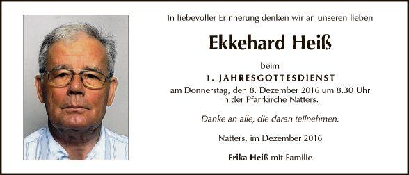 Ekkehard Heiß