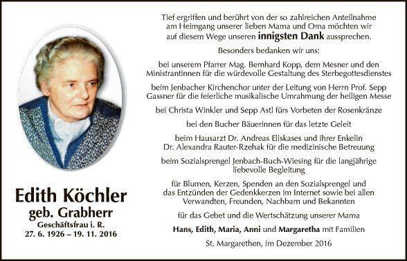 Edith Köchler