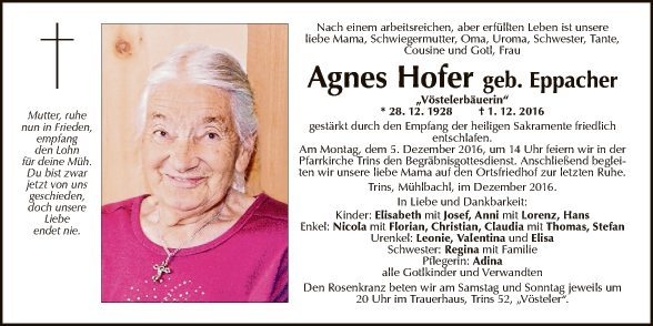 Agnes Hofer