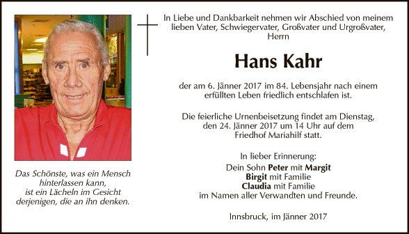 Hans Kahr
