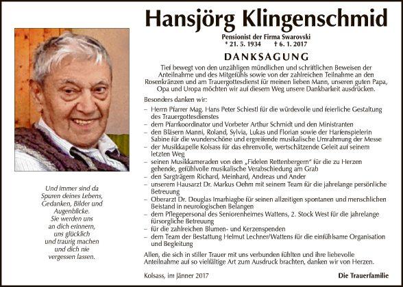 Hansjörg Klingenschmid