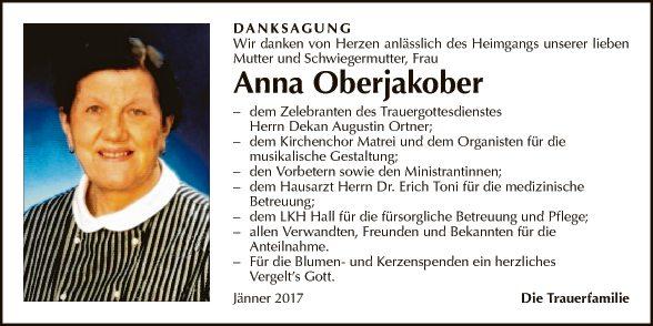 Anna Oberjakober