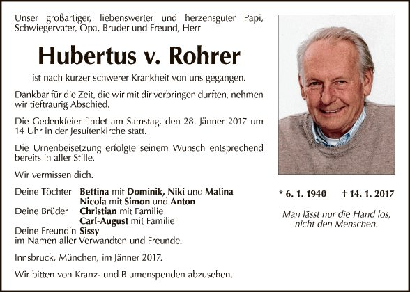 Hubertus v. Rohrer