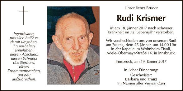 Rudi Krismer