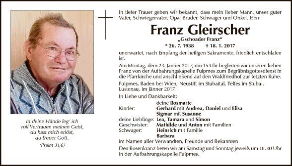 Franz Gleirscher