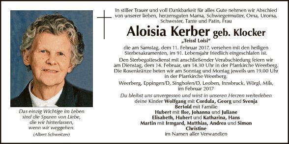 Aloisia Kerber
