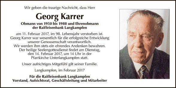 Georg Karrer