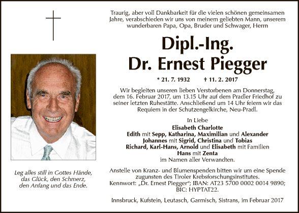Dipl.-Ing. Dr. Ernest Piegger