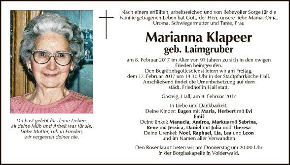 Marianna Klapeer