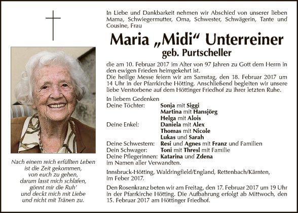 Maria Unterreiner